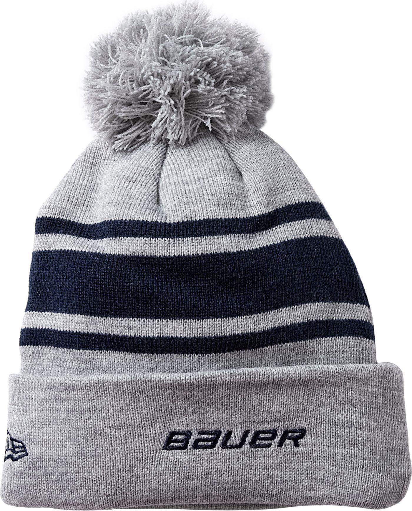 Bauer Senior New Era Team Striped Pom-Pom Beanie