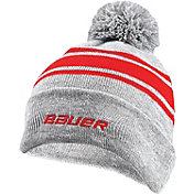 Bauer Senior New Era Team Striped Pom-Pom Beanie