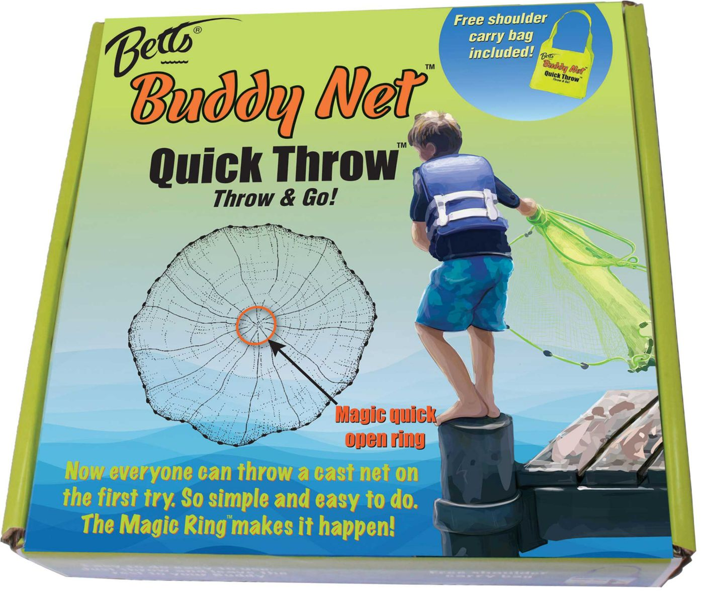 Betts Buddy Quick Throw Net