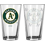 Boelter Oakland Atheltics 16oz. Satin Etched Pint Glass