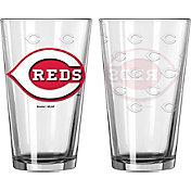 Boelter Cincinnati Reds 16oz. Satin Etched Pint Glass