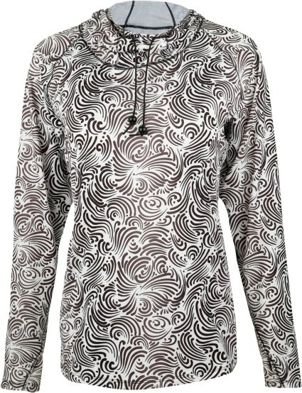 Bette & Court Women's Printed Hybrid Cool Elements Pullover Hoodie