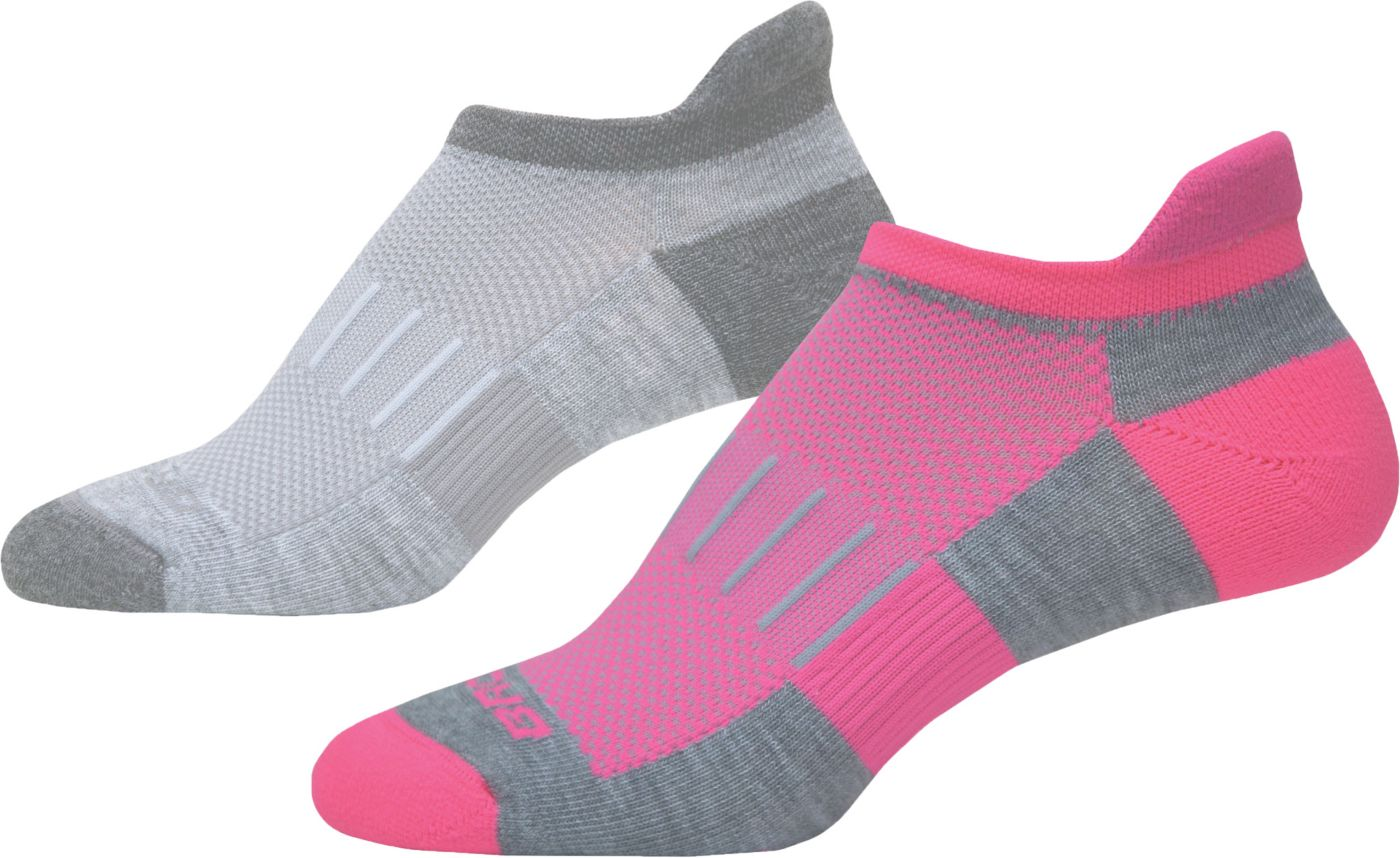Brooks Ghost Midweight No Show Socks - 2 Pack
