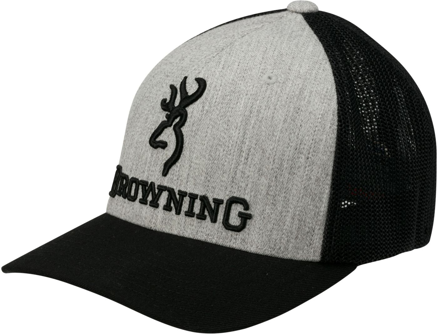 Browning Men's Branded Heather Flexfit Hat