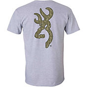 Browning Men's Mossy Oak Bottomland Buckmark T-Shirt