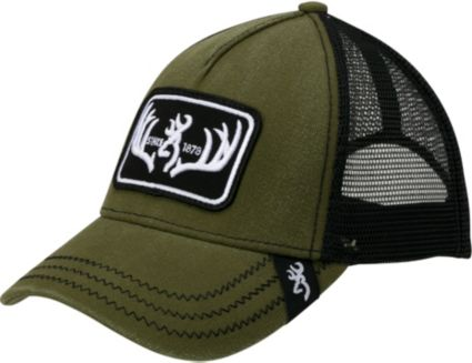 9bf3077fc42 Browning Men s Typical Antler Patch Mesh Back Hat. noImageFound