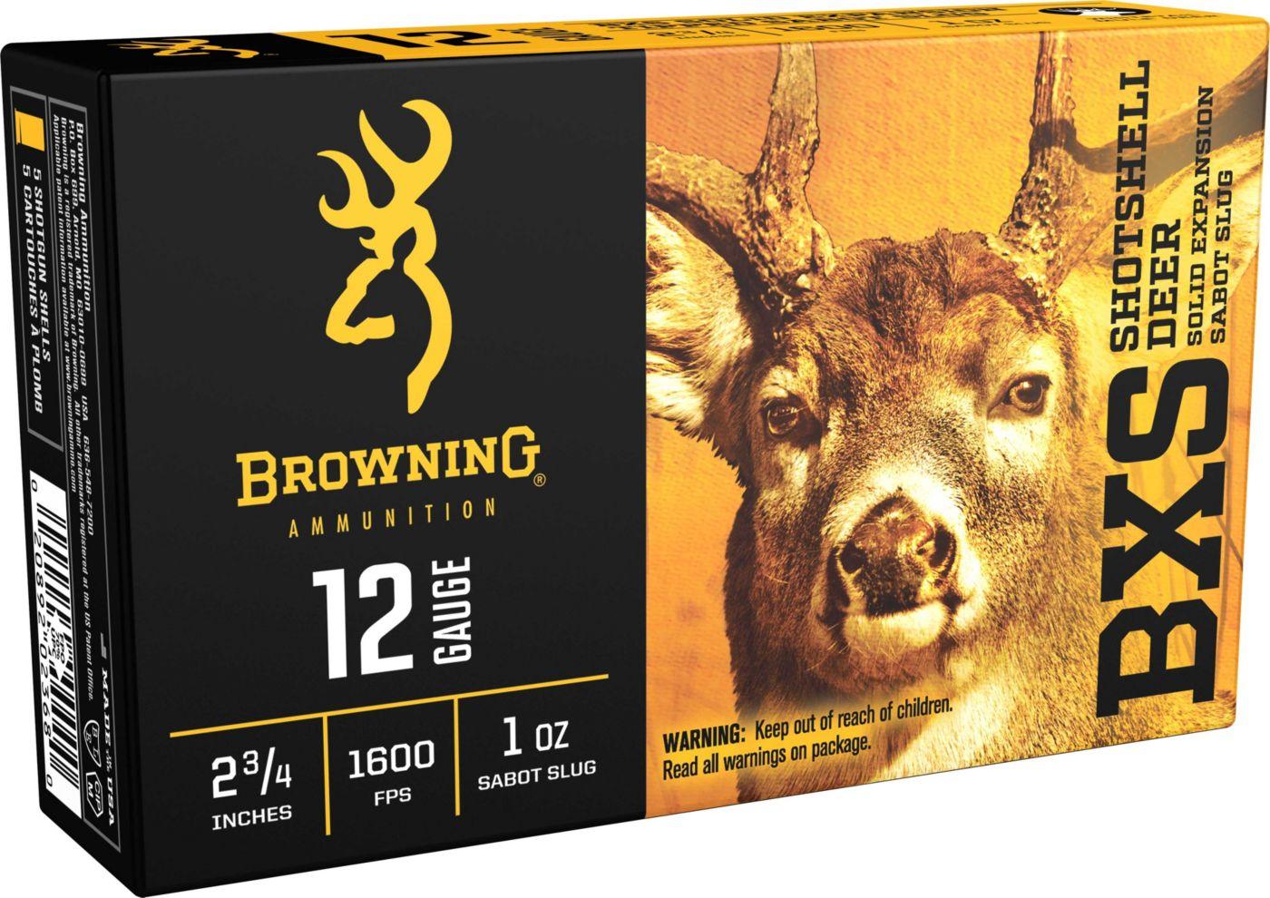 Browning BXS Deer 12 Gauge Sabot Slug Shotgun Ammunition