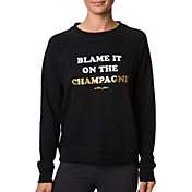 Betsey Johnson Women's Blame Champagne Fleece Brushed Pullover