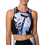 Betsey Johnson Performance Women's Abstract Print Block Extended Sports Bra