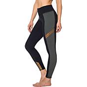 Betsey Johnson Women's Colorblock Metallic Insert 7/8 Leggings