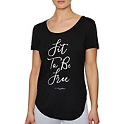 Betsey Johnson Women's 'Fit to be Free' Sidecut T-Shirt