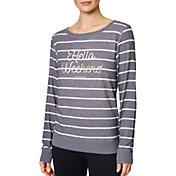 Betsey Johnson Women's 'Hello Weekend' Striped Pullover