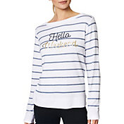 Betsey Johnson Women's 'Hello Weekend' Striped Pullover