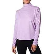 Betsey Johnson Performance Women's Scallop Hem Turtleneck Long Sleeve Shirt
