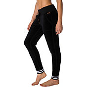 Betsey Johnson Performance Women's Striped Rib Velour Skinny Joggers