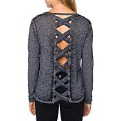 Betsey Johnson Performance Women's Criss-Cross Back Cutout Long Sleeve T-Shirt
