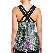 CALIA by Carrie Underwood Women's Limited Edition Fleuria Move Printed Back Strap Tank Top