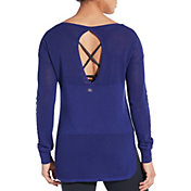 CALIA by Carrie Underwood Women's Effortless Mesh Sweater