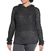 CALIA by Carrie Underwood Women's Effortless Metallic Hooded Sweater
