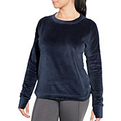 CALIA by Carrie Underwood Women's Velour Crewneck Sweatshirt