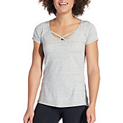 CALIA by Carrie Underwood Women's Heather Front Strap T-Shirt