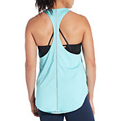 CALIA by Carrie Underwood Women's Reversible Heather Ladder Trim Tank Top