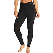 CALIA by Carrie Underwood Women's Limited Edition Onyx Velvet Pieced Leggings