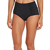 CALIA by Carrie Underwood Women's Ruched High Waist Bikini Bottoms