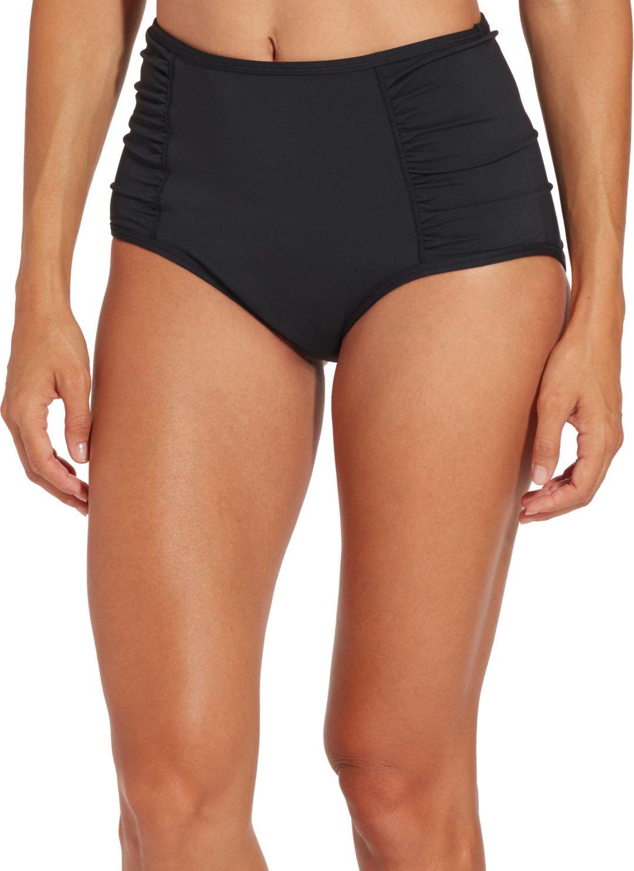 0006b2459fa CALIA by Carrie Underwood Women's Ruched High Waist Bikini Bottoms