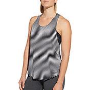 CALIA by Carrie Underwood Women's Move Reversible Stripe Racerback Tank Top