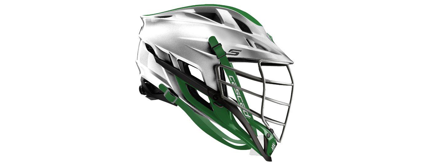 Cascade Custom S Platinum Lacrosse Helmet w/ Chrome Mask