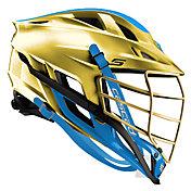 Cascade Custom S Platinum Lacrosse Helmet w/ Gold Pearl Mask