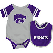 Colosseum Infant Kansas State Wildcats Roll-Out Onsie And Bib Set
