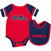 Colosseum Infant Ole Miss Rebels Blue Roll-Out Onsie And Bib Set