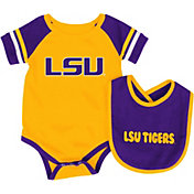 Colosseum Infant LSU Tigers Purple Roll-Out Onsie And Bib Set
