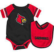 Colosseum Infant Louisville Cardinals Cardinal Red Roll-Out Onsie And Bib Set