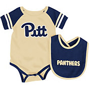 Colosseum Infant Pittsburgh Panthers Blue Roll-Out Onsie And Bib Set
