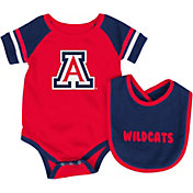 Colosseum Infant Arizona Wildcats Roll-Out Onsie And Bib Set