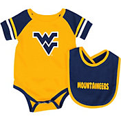 Colosseum Infant West Virginia Mountaineers Blue Roll-Out Onsie And Bib Set