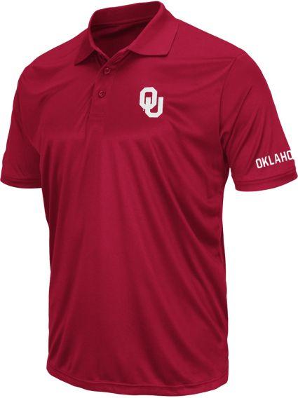Colosseum Athletics Men's Oklahoma Sooners Crimson Performance Polo