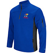 Colosseum Men's Kansas Jayhawks Blue Advantage Quarter-Zip Jacket