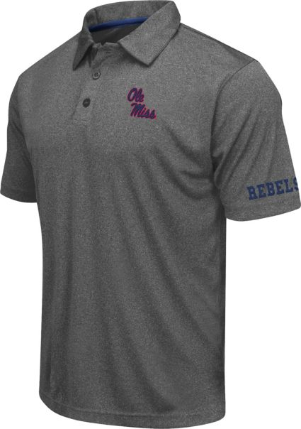 Colosseum Athletics Men's Ole Miss Rebels Charcoal Performance Polo
