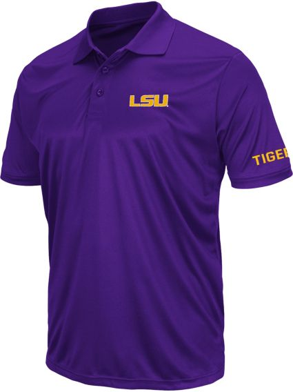Colosseum Athletics Men's LSU Tigers Purple Performance Polo