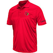 Colosseum Men's Louisville Cardinals Cardinal Red Performance Polo