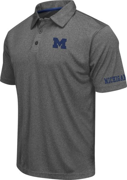 Colosseum Athletics Men's Michigan Wolverines Charcoal Performance Polo