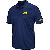 Colosseum Men's Michigan Wolverines Blue Performance Polo