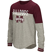 Colosseum Youth Girls' Mississippi State Bulldogs Grey Baton Long Sleeve Shirt