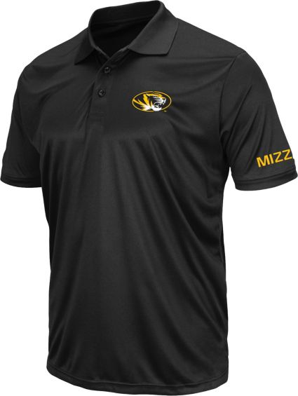 Colosseum Athletics Men's Missouri Tigers Black Performance Polo