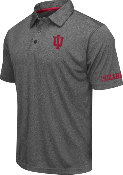 Colosseum Athletics Men's Indiana Hoosiers Charcoal Performance Polo