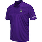 Colosseum Men's Northwestern Wildcats Purple Performance Polo